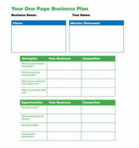 two page business plan template - american history paper topics after 1877
