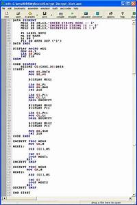 Simplified Letter Format Assembly Program To Encode String Into Shift 5 Place Left