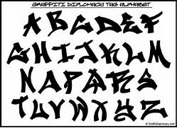 Graffiti alphabet blac...