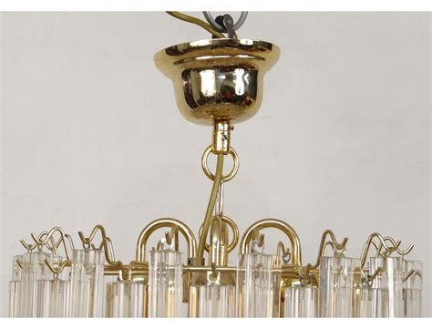 suspension chandelier suspension chandelier vintage gold metal glass