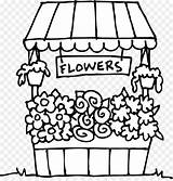 Flower Coloring Clipart Drawing Pinclipart Getdrawings Floristry Floral Clip sketch template