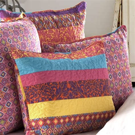 lush decor boho  piece reversible coverlet set reviews