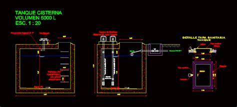 tank cistern  liters dwg block  autocad designs cad