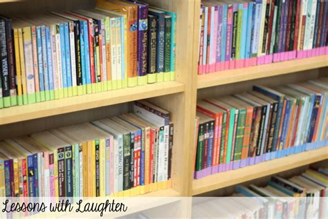 Classroom Bookshelf by Lessons With Laughter Classroom Library Organization