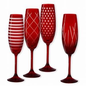 Flûtes à Champagne Originales : fl tes champagne en verre rouge verrerie design ~ Teatrodelosmanantiales.com Idées de Décoration