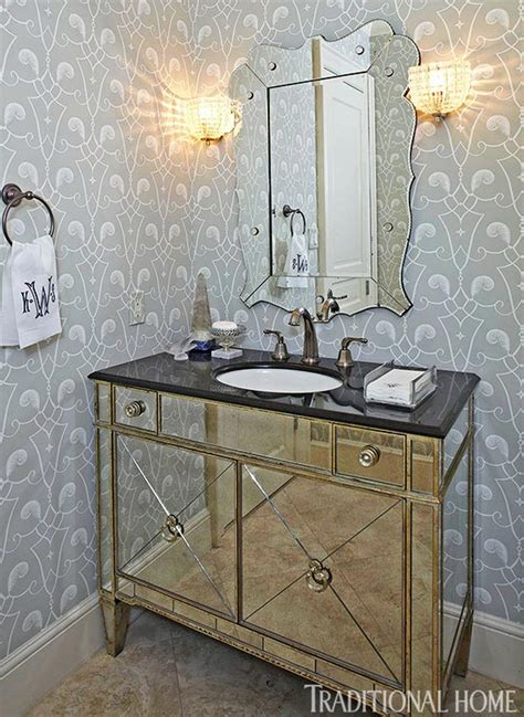 dramatic wallpaper  powder room gallery