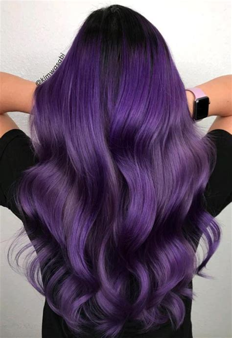 purple hair color ideas  swoon  violet purple