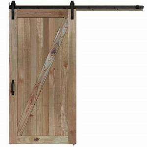 Barn doors interior closet doors the home depot for 40 inch interior barn door