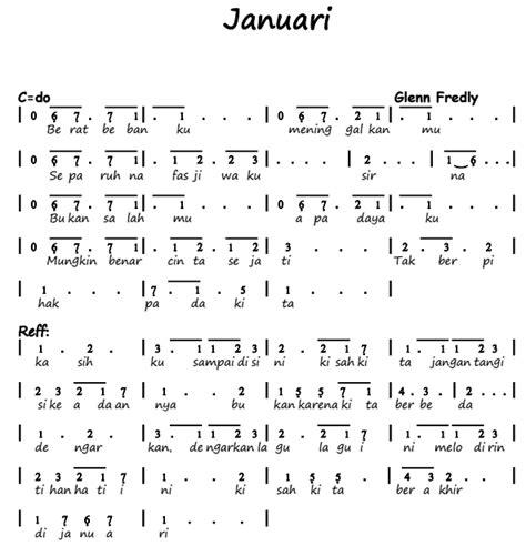 not angka lagu asal kau bahagia di pianika not angka pianika lagu januari glenn fredly