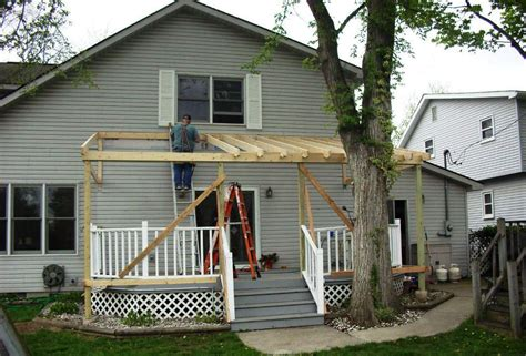 Building A Roof Over A Deck Diy Building A Roof Over A