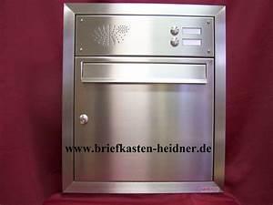 Briefkasten Mit Klingel Aufputz : up13 unterputz briefkastenanlage 370x440x160 mm 1 teilig 2 klingeln edelstahl www ~ Sanjose-hotels-ca.com Haus und Dekorationen