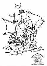 Coloring Ship Pages Sunken Pirate Printable Getcolorings sketch template