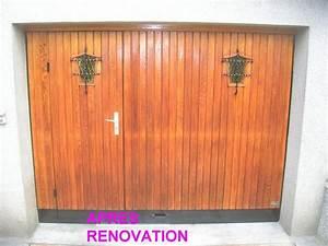 peindre une porte de garage en bois resine de protection With peindre une porte en bois