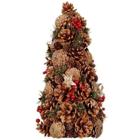traditional pine cone tree christmas decorations b m