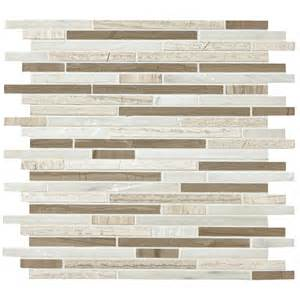 shop american olean delfino smokey topaz mosaic and glass wall tile common 12 in x