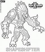 Invizimals Coloring Shapeshifter Pages Totem Shadow Zone Immense Native Drawing Forests Americans Huge God Power Printable Games Totems Oncoloring sketch template