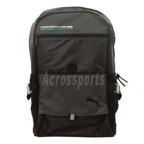 Puma mercedes amg petronas sports bag black. PUMA Mamgp Mercedes AMG Benz Black Mens Backpack Bag 07119401 | eBay