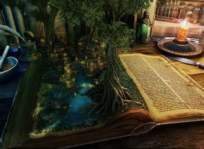 Books Fantasy Wallpapers Spec Desktop Trees Backgrounds