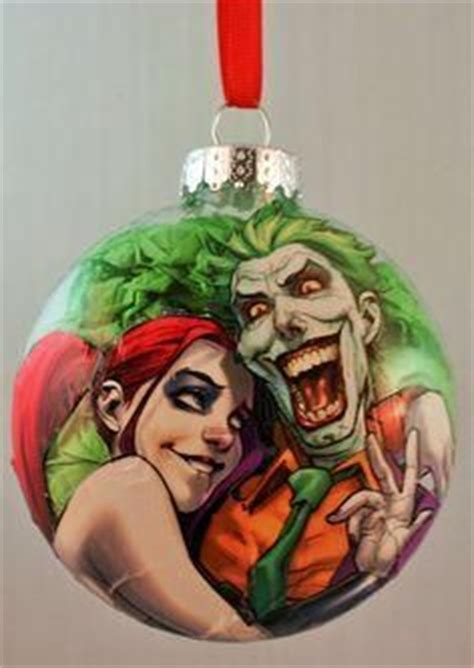 harley quinn and joker christmas ornament by
