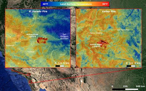satellites monitor california wildfires  space  space