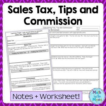 math goodies percent applications worksheet 3 sales tax