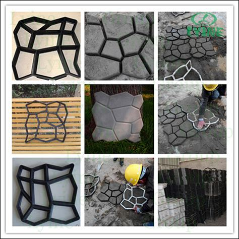 Diy Cobblestone Paving Moulds Concrete Cement Plaster
