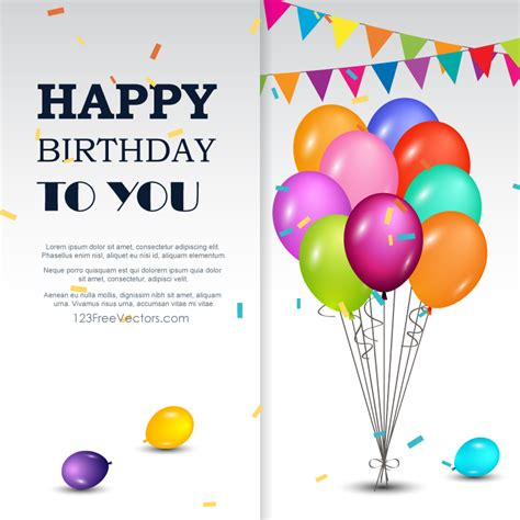 happy birthday wishes greeting cards free birthday happy birthday greetings card 123freevectors