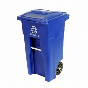 Toter 32 Gal Rollout Recycling Container with Attached