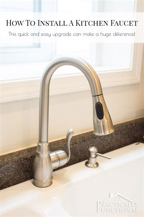 installing kitchen faucet how to install a kitchen faucet