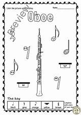 Woodwind Anastasiya Clarinet Oboe sketch template