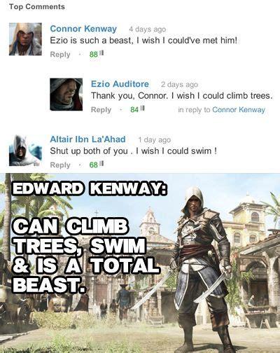 Assassins Creed 4 Memes - assassins creed funny memes tumblr mjd796ye0v1rbvycjo1 400 jpg assassins creed pinterest