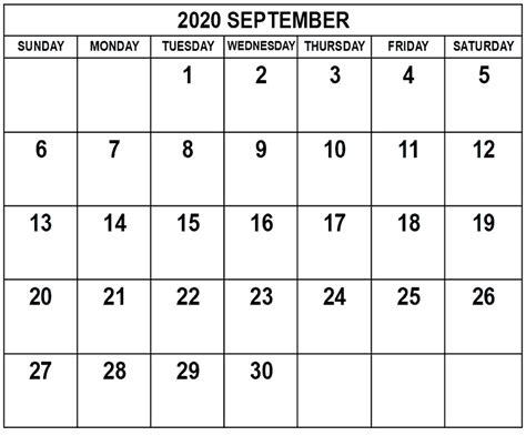 september  printable calendar blank monthly templates