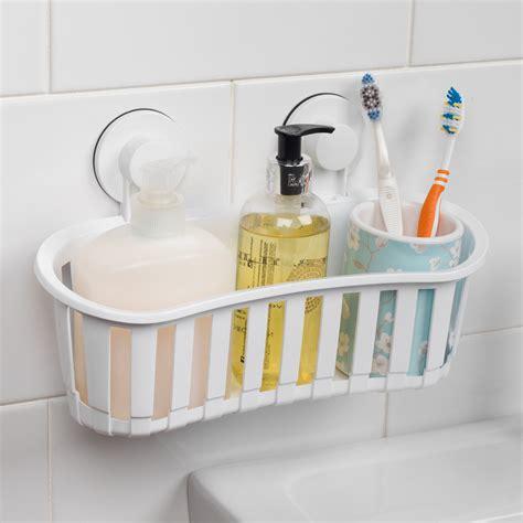 beldray set   plastic suction bathroom shower baskets