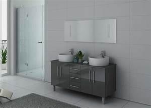 Meuble De Salle De Bain Double Vasque : meuble de salle de bain gris double vasque meuble de ~ Melissatoandfro.com Idées de Décoration