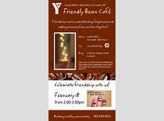 Friendly Bean Cafe at Fundy YMCA , Cornwallis February 18