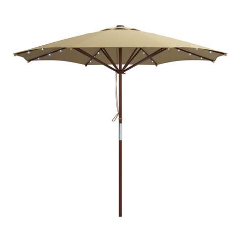 solar lighted patio umbrella corliving pzt 7 patio umbrella with solar power led lights