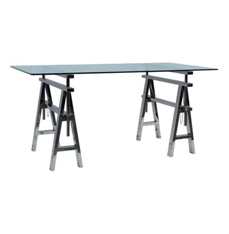 bell o adjustable height desk enzo industrial style adjustable height stainless steel