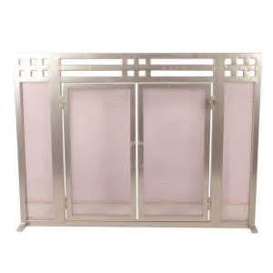 Fireplace Screen Home Depot by Layton Nickel Single Panel Fireplace Screen Ds 21137 The