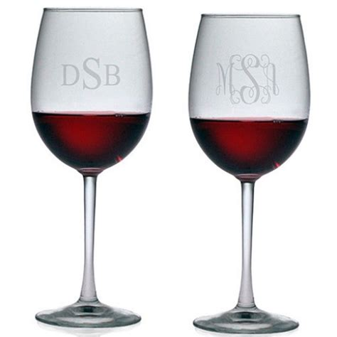 Monogram Barware by Susquehanna All Purpose Wine Glasses Monogram Set Of 4