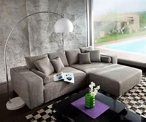Sofa Xxl Mit Schlaffunktion : big sofa xxl marbeya 290x110 hellgrau hocker schlaffunktion m bel sofas big sofas ~ Indierocktalk.com Haus und Dekorationen