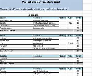 Get project budget template excel projectmanagementwatch for Projected budget template excel