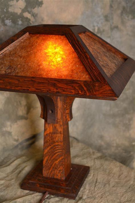 wooden mission lamp plans woodworking projects plans