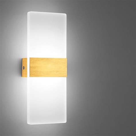 dimmable n 6w led wall sconce light acrylic bedside l