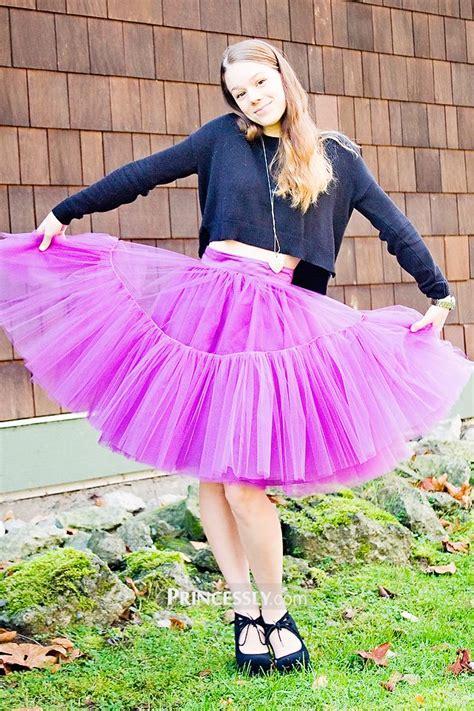 Pink Tulle Skirtshort Woman Skirt