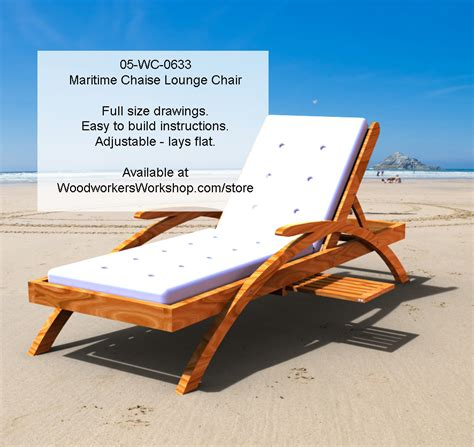 wc  maritime chaise lounge chair woodworking