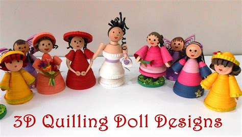 quilling doll designs  crafts  diy projects