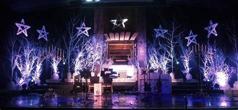 christmas stage decorations manger in the brush church stage design ideas