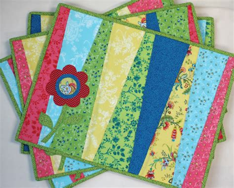 quilted placemat patterns fresh blooms placemats notions the connecting threads