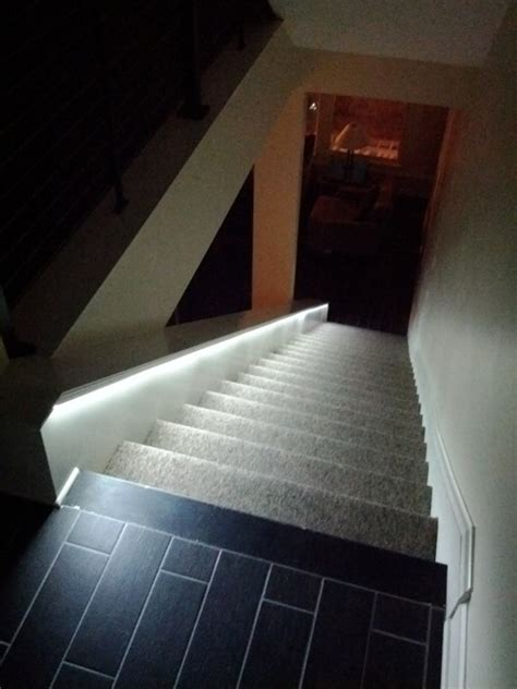 LED lighting for stairs   Contemporary   Staircase