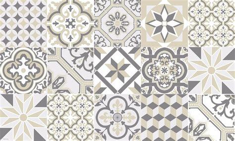 tapis vinyle carreaux de ciment ginette beige